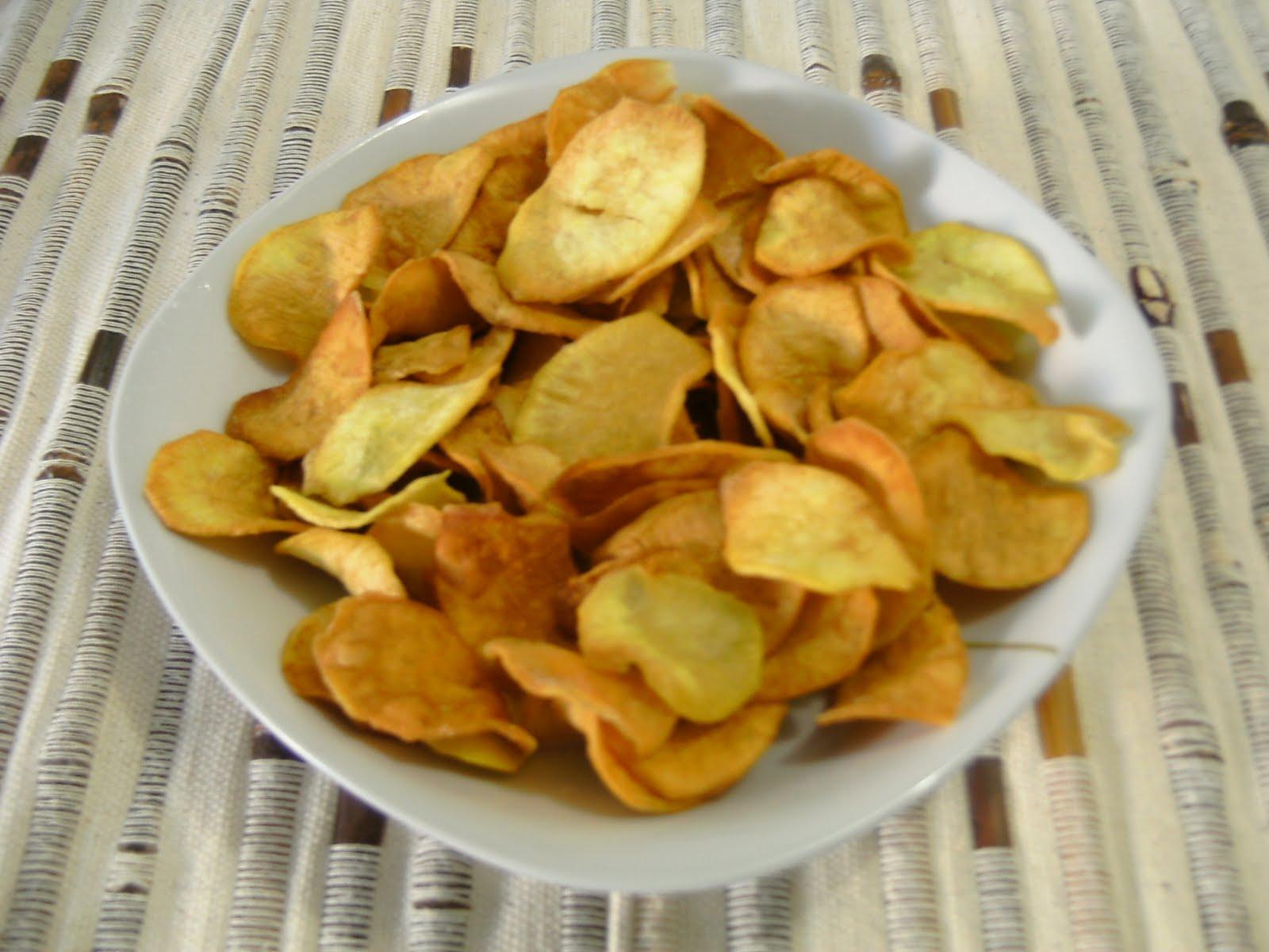 chips de timidez doce frita nanay forno